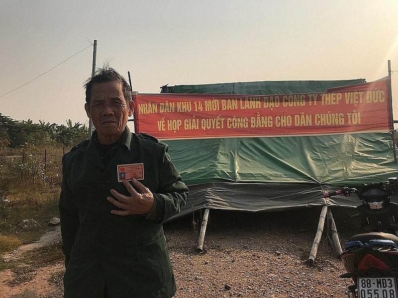 vinh phuc khuat tat trong viec chi tra tien boi thuong tai du an cua cong ty thep viet duc