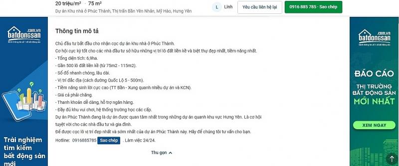 my hao hung yen chinh quyen co buong long viec quan ly dat dai