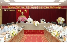 thuong truc ban bi thu trung uong dang vo van thuong tham va lam viec tai tinh vinh phuc